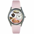 Jewelry Lover Pink Watch Classic Silver Style S 0910013