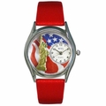 July 4th Patriotic Watch Classic Silver Style S 1228001