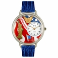 July 4th Patriotic Watch in Silver Unisex U 1220022