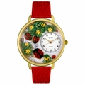Ladybugs Watch in Gold or Silver Unisex G 1210004