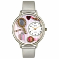 Makeup Watch in Silver Unisex U 1610007
