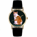 Manx Cat Print Watch in Gold Classic P 0120045