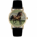Morgan Horse Print Watch in Gold Classic P 0110029