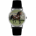 Morgan Horse Print Watch in Silver Classic R 0110029