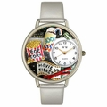 Movie Lover Watch in Silver Unisex U 0420013