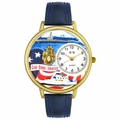 Navy Watch in Gold or Silver Unisex G 1220029