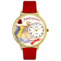 Needlepoint Watch in Gold or Silver Unisex G 0450009