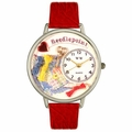 Needlepoint Watch in Silver Unisex U 0450009