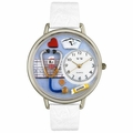 Nurse Blue Watch in Silver Unisex U 0620013