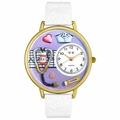 Nurse Purple Watch in Gold or Silver Unisex G 0620042