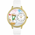 Nurse Teddy Bear Watch in Gold or Silver Unisex G 0230005