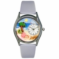 Palm Tree Watch Classic Silver Style S 1210010