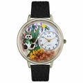 Panda Bear Watch in Silver Unisex U 0150017