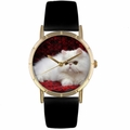 Persian Cat Print Watch in Gold Classic P 0120025