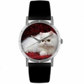 Persian Cat Print Watch in Silver Classic R 0120025