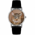 Pixie Bob Cat Print Watch in Silver Classic R 0120053