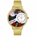 Poker Watch in Gold or Silver Unisex G 0430004