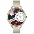 Poker Watch in Silver Unisex U 0430004