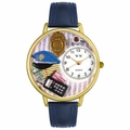 Police Officer Watch in Gold or Silver Unisex G 0610016