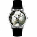 Poodle Print Watch in Silver Classic R 0130059