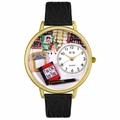 Psychiatrist Watch in Gold or Silver Unisex G 0610010