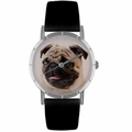 Pug Print Watch in Silver Classic R 0130061