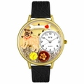 Pug Watch in Gold or Silver Unisex G 0130061