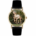 Quarter Horse Print Watch in Gold Classic P 0110030