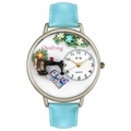 Quilting Watch in Silver Unisex U 0450012