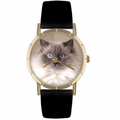 Ragdoll Cat Print Watch in Gold Classic P 0120049