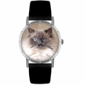 Ragdoll Cat Print Watch in Silver Classic R 0120049