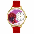 Red Hat Watch in Gold or Silver Unisex G 0470007