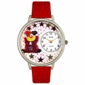 Red Star Clown Watch in Silver Unisex U 0210008