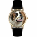 Saint Bernard Print Watch in Gold Classic P 0130070