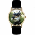 Schnauzer Print Watch in Gold Classic P 0130066