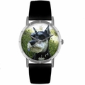 Schnauzer Print Watch in Silver Classic R 0130066