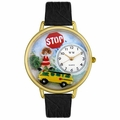 School Bus Driver Watch in Gold or Silver Unisex G 0610013
