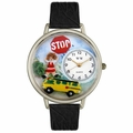 School Bus Driver Watch in Silver Unisex U 0610013