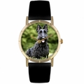 Scottie Print Watch in Gold Classic P 0130067