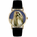 Shih Tzu Print Watch in Gold Classic P 0130069