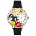 Shih Tzu Watch in Silver Unisex U 0130069