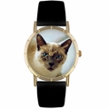 Siamese Cat Print Watch in Gold Classic P 0120055