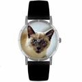 Siamese Cat Print Watch in Silver Classic R 0120055