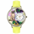 Siamese Cat Watch in Silver Unisex U 0120007