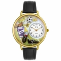 Soccer Watch in Gold or Silver Unisex G 0820002