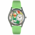 St Patricks Day Watch  Irish Flag  Classic Silver Style S 1224003