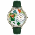 St Patricks Day Watch  Irish Flag  in Silver Unisex U 1224001