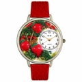 Strawberries Watch in Silver Unisex U 1210006