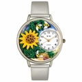 Sunflower Watch in Silver Unisex U 1210009