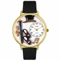 Tap Dancing Watch in Gold or Silver Unisex G 0420007